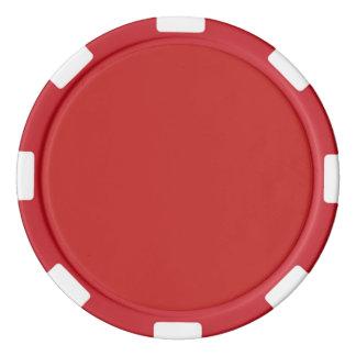 De rode Spaander van het Casino Pokerchips