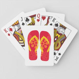 De rode Speelkaarten van de Wipschakelaars van de