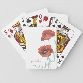 De rode Speelkaarten van Pioenen