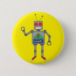De rode Speld van de Knoop van de Robot van Ronde Button 5,7 Cm
