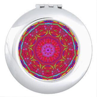 De rode Spiegel van de Zak van PopFlower Mandala Makeup Spiegeltje