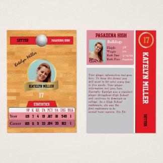 De rode Sporten die van het Volleyball Kaart met Visitekaartjes