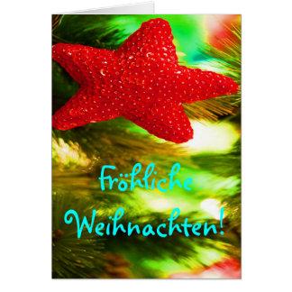 De Rode Ster van Kerstmis van Weihnachten van Wenskaart