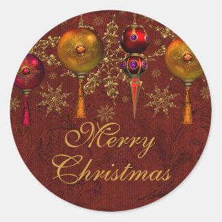 De rode Sticker van Kerstmis van de Snuisterij van