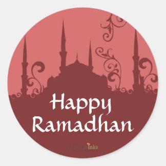 De rode Stickers van de Moskee van de Werveling