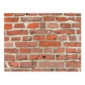 De rode Structuur van de Bakstenen muur Briefkaart