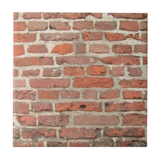 De rode Structuur van de Bakstenen muur Tegeltje