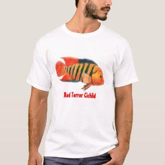 De rode T-shirt van Festae Cichlid van de