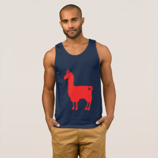 De rode Tanktop van de Lama