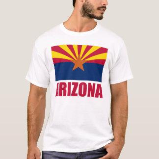De Rode Tekst van de Vlag van Arizona T Shirt