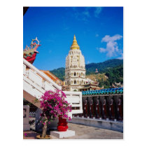 De rode Tempel van Si van Kek Lok, Penang, de bloe Briefkaart