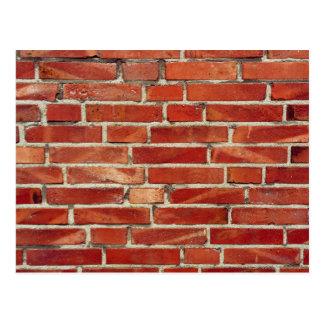 De rode Textuur van de Bakstenen muur Briefkaart