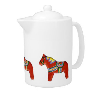 De rode Theepot van het Paard Dala