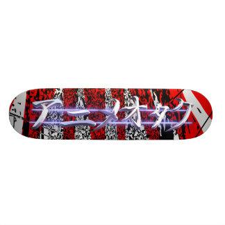 De rode uitbarsting van Otaku van Anime Skateboard Deck