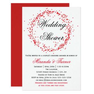 De rode Uitnodiging van de Douche van het Huwelijk
