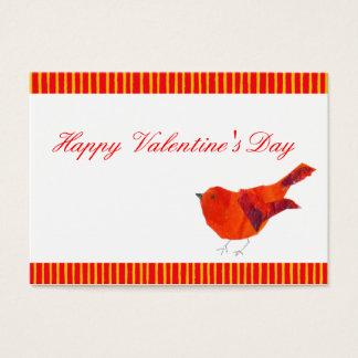 De rode Valentijnskaarten van de Vogel ACEO Visitekaartjes