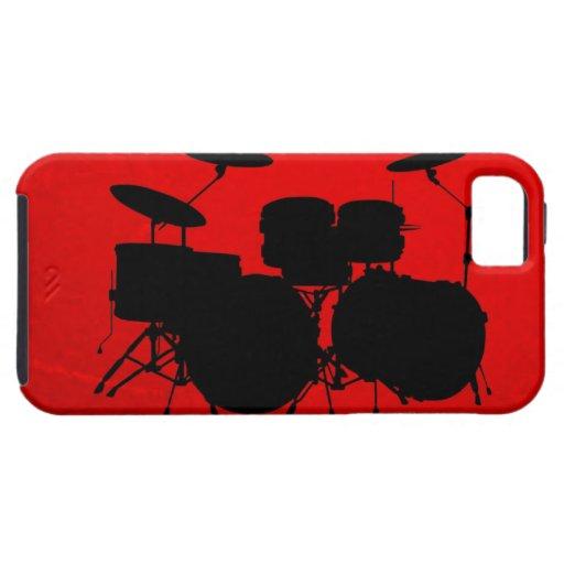 De rode Vector van de Trommel iPhone 5 Hoesje