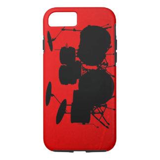 De rode Vector van de Trommel iPhone 7 Hoesje