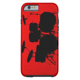 De rode Vector van de Trommel Tough iPhone 6 Hoesje