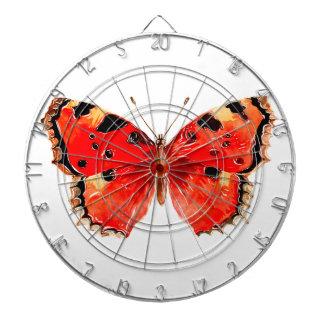 De Rode Vlinder van de Waterverf van de vlinder Dartbord