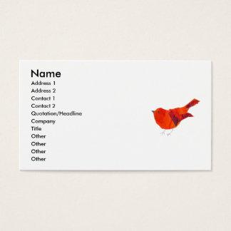De Rode Vogel van de Dieren van de Natuur van het Visitekaartjes