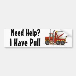 """De """"rode Vrachtwagen Wrecker, de Hulp van het Slep Bumpersticker"""