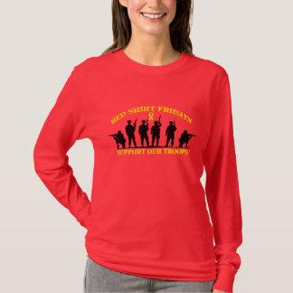 De rode Vrijdagen van het Overhemd steunen Ons T Shirt