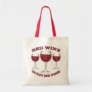 De rode Wijn past me aan de Fijne Grappige Merlot Draagtas
