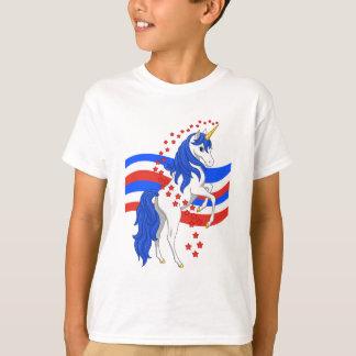 De rode Witte Blauwe Amerikaanse Eenhoorn van T Shirt