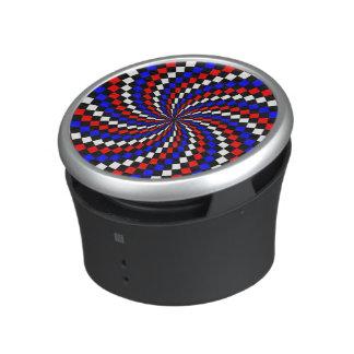 De rode Witte Blauwe Spiraal van de Controleur Bluetooth Luidspreker