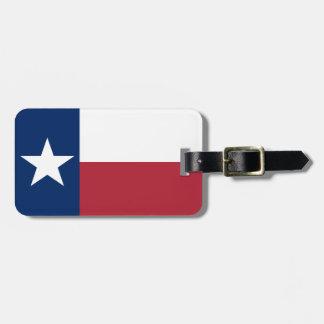 De rode Witte Blauwe Vlag van de Ster van Texas Kofferlabels