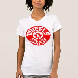 De Rode/Witte Druk van wielen T Shirt