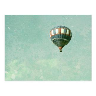 De rode Witte en Blauwe Ballon van de Hete Lucht Briefkaart