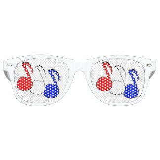 De rode Witte en Blauwe Glazen van de Mode van de Retro Zonnebril