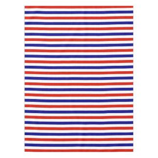 De rode Witte en Blauwe Lijst kleedt zich Tafelkleed