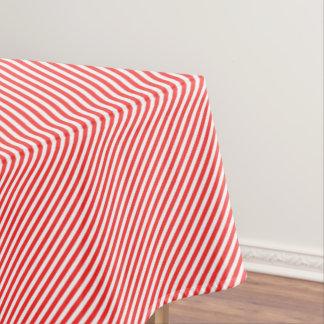 De rode & Witte Streep van het Riet van het Snoep Tafelkleed