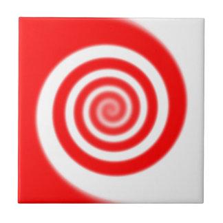 De rode & Witte Werveling van het Snoep van de Keramisch Tegeltje