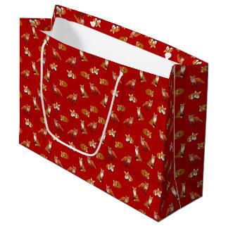 De rode Zak van de Gift van de Familie van de Vos Groot Cadeauzakje