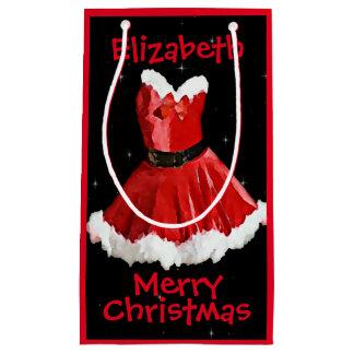 De rode Zak van de Gift van de Kerstman Kleding Klein Cadeauzakje