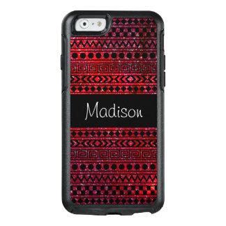 De rode Zwarte Azteekse Stammen RuimteSterren OtterBox iPhone 6/6s Hoesje