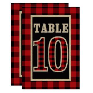 De rode & Zwarte Rustieke Lijst Nummer 10 van de Kaart