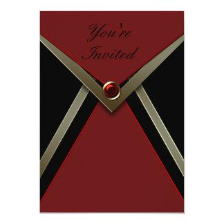 De rode Zwarte Sjabloon van de Uitnodiging van de