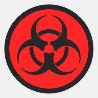 De rode & Zwarte Sticker van het Symbool Biohazard