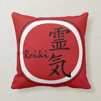 De rode zwarte van het Symbool REIKI + uw Sierkussen