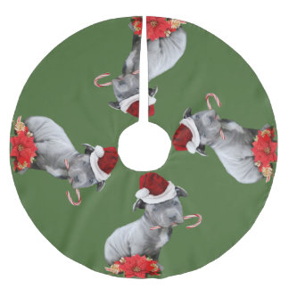 De rok van de het puppyboom van Kerstmis pitbull Kerstboom Rok