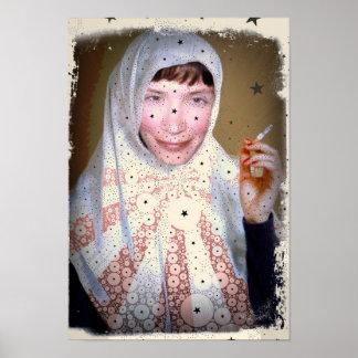 De rokende Druk van het Canvas van de Non Poster