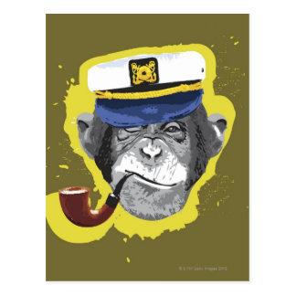 De Rokende Pijp van de chimpansee Briefkaart