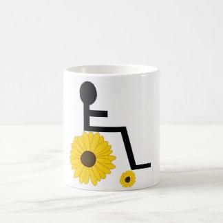 De Rolstoel van de zonnebloem Koffiemok
