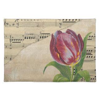 De Romaanse Tulpen van de vintage Victoriaans Placemat