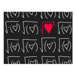 De romance van de wiskunde geek: vind echte liefde briefkaart